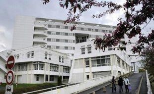 L'hôpital de Pontchaillou à Rennes, le 29 mars 2011