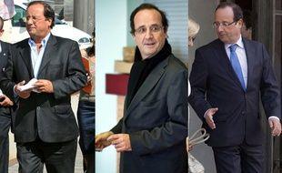 François Hollande en 2008, 2011 et 2013.