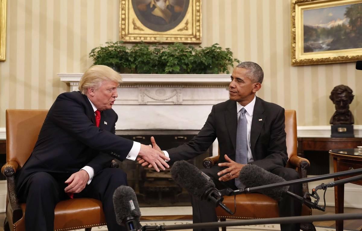 Donald Trump et Barack Obama à la Maison Blanche, le 10 novembre 2016. – P.MARTINEZ/A/SIPA