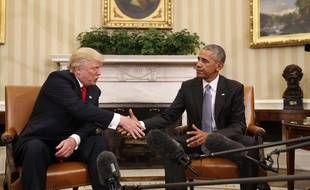 Donald Trump et Barack Obama à la Maison Blanche, le 10 novembre 2016.