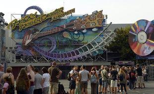 Une file d'attente à Disneyland Paris, en apût 2015.