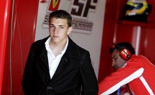 Le Français Jules Bianchi, le 15 mai 2007 lors d'essais sur le circuit du Castellet.