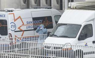 A Nantes, où une patiente qui pourrait être atteinte du coronavirus était attendue, le 28 février 2020.