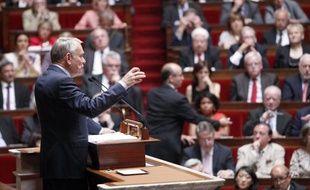 Jean-Marc Ayrault prononce son discours de politique générale le 3 juillet 2012 à L'Assemblée nationale