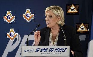 Marine Le Pen et un montage douteux.