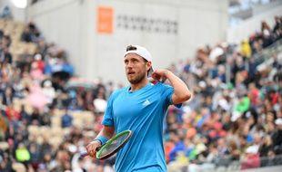 Lucas Pouille n'a pas passé le deuxième de Roland-Garros.