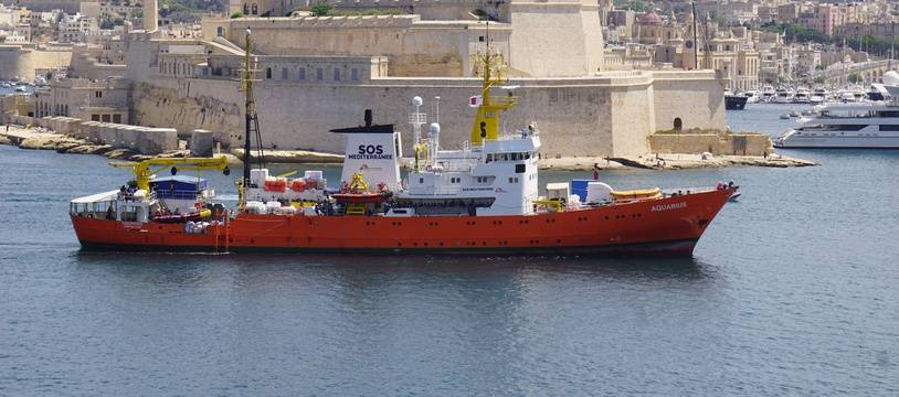 L'«Aquarius» dans le port de Malte, le 15 août 2018.