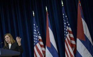 Josefina Vidal, chargée des Etats-Unis au ministère cubain des Affaires étrangères, à Washington le 27 février 2015