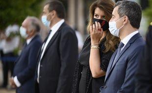 Marlene Schiappa et Gerald Darmanin à Ajaccio le 9 septembre 2020.