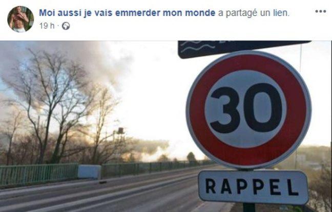 La publication de la page Facebook liée à « Humour à gogo ».