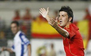 David Villa contre la Bosnie le samedi 6 septembre 2006