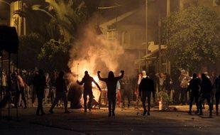 Des manifestants tunisiens le 11 janvier 2018.