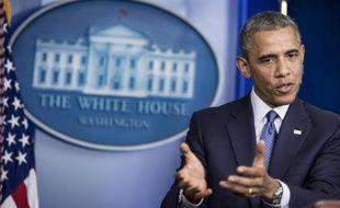 Le président américain Barack Obama le 1er août 2014 à la Maison Blanche, à Washington