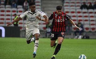 Youcef Atal, ce vendredi soir à l'Allianz Riviera contre Bordeaux.