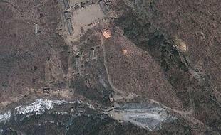 Image satellite du site nucléaire nord-coréen de Punggye-ri en 2012.