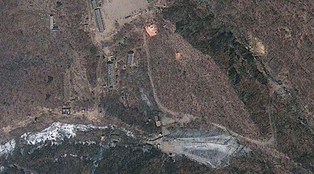 Image satellite du site nucléaire nord-coréen de Punggye-ri en 2012. – Uncredited/AP/SIPA