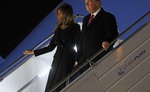 Le président américain Donald Trump et la Première dame Melania Trump, à leur arrivée à Paris, le 9 novembre 2018.