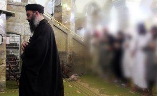 Abou Bakr al-Baghdadi dans une image diffusée le 5 juillet 2014.