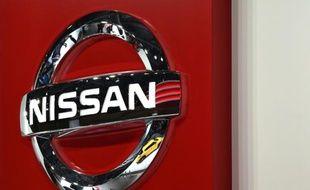 Le logo Nissan, au salon automobile de Tokyo le 28 octobre 2015