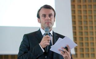 Le ministre de l'Economie, Emmanuel Macron, lors d'une conférence de presse à Paris, le 15 octobre 2014.