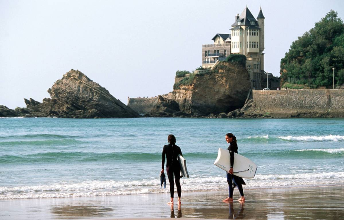 La Côte des Basques, à Biarritz. – DAZAY/SIPA