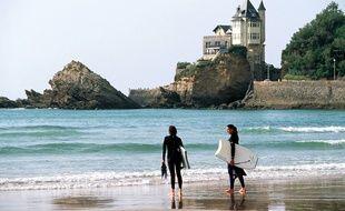 La Côte des Basques, à Biarritz.