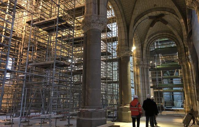 A l'intérieur de la basilique Saint-Donatien à Nantes