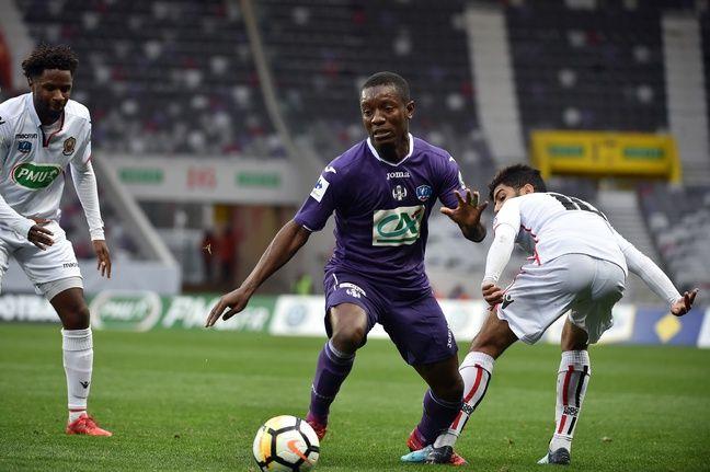 Face à Nice en Coupe de France, le 6 janvier 2018 au Stadium de Toulouse.