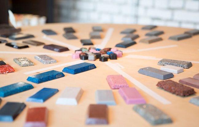 Echantillons de matière reconditionnée par Etnisi.