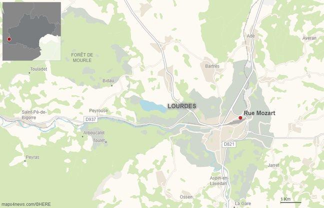 La rue Mozart, à Lourdes.