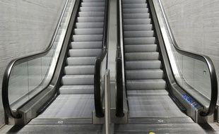 Illustration d'un escalator.
