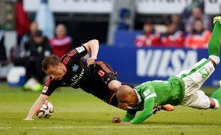 Un match entre Hambourg et le Werder de Brême, en 2015.