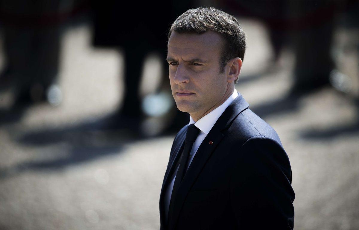 Emmanuel Macron, photographié le 18 juin 2017 au Mont Valérien. – ZIHNIOGLU KAMIL/SIPA