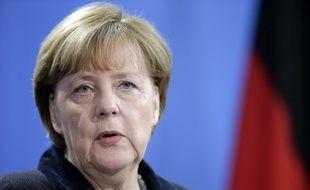 La chancelière allemande Angela Merkel, le 7 janvier 2016 à Berlin.