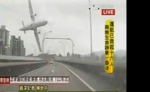 L'avion qui s'est crashé le 4 février 2015 à Taïwan.