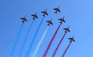 La patrouille de France, le 22 avril 2018 à Cannes (image d'illustration).