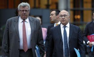 Le secrétaire d'Etat au Budget Christian Eckert et le ministre de l'Economie et des Finances Michel Sapin le 28 septembre 2016.