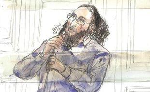Abdelkader Merah devant la cour d'assises spécialement composée de Paris.