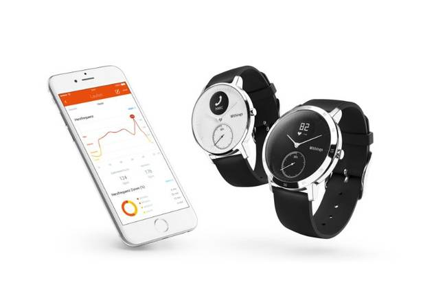 La montre d'activité Steel HR de Withings intègre un capteur cardio-fréquencemètre.