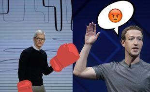 Tim Cook et Mark Zuckerberg / Montage
