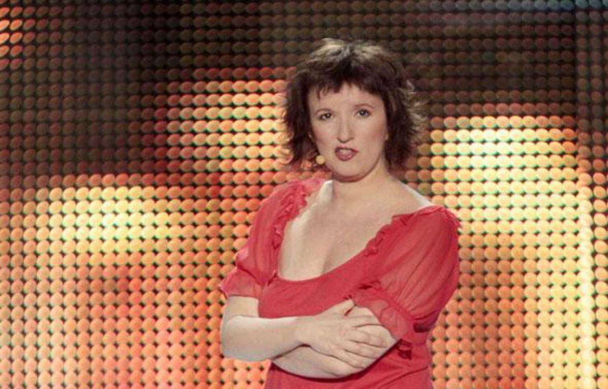 Anne Roumanoff, sur la scene du Palais des  Sports.Paris, le 22mars 2010.  – P. LEROUX/SIPA