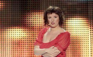 Anne Roumanoff, sur la scene du Palais des  Sports.Paris, le 22mars 2010.