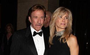 L'acteur Chuck Norris et sa femme Gena Norris