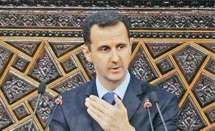 Bachar al-Assad au Parlement syrien, le 30 mars.