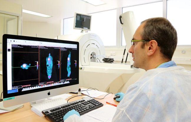 L'étude des résultats obtenus après une séance d'imagerie médicale par radioactivité grâce à des particules créées à Strasbourg par l'accélérateur de particules Cyrcé.