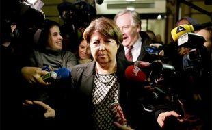 Martine Aubry s'est exprimé à l'issue d'une réunion concernant La Redoute au siège parisien de Kering, le 12 novembre 2013