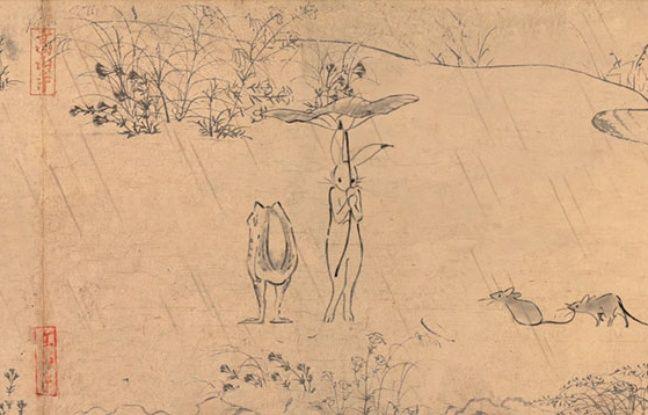 Ghibli anime un emaki historique pour une pub