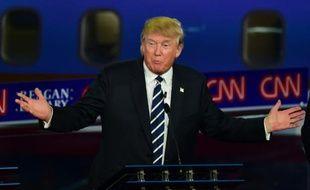 Donald Trump lors du deuxième débat télévisé des primaires républicaines, le 16 septembre 2015 à Simi Valley, en Californie