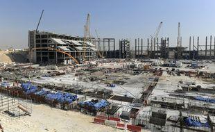 Un chantier de stade pour le Mondial 2022 au Qatar, prise à Al-Khor en janvier 2017.