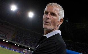 L'entraîneur girondin Francis Gillot, le 1er août 2012 à Naples (Italie).